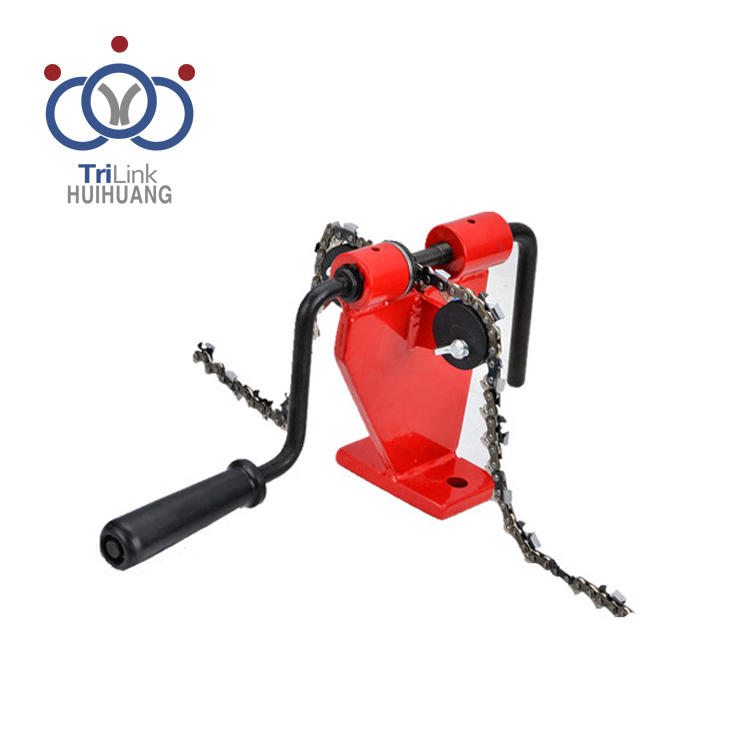 Bench-model Saw Chain Breaker And Rivet Spinner for Joining Chain Loops